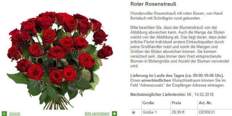 FloraPrima Last Minute Rosen