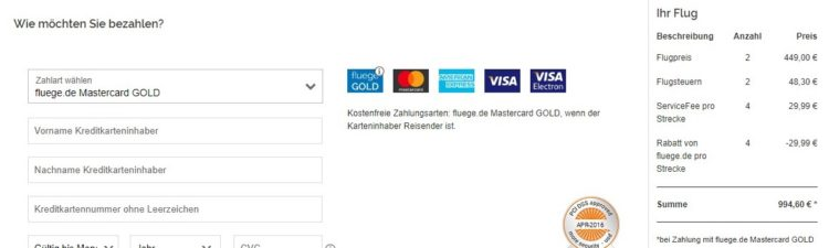 Fluege.de MasterCard