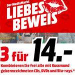 Media Markt Top Aktion: 3 für 14€! (3 CDs, DVDs oder Blu-rays für 14€)