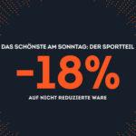 SportScheck: 18% Rabatt auf alle nicht reduzierten Artikel *nur heute*