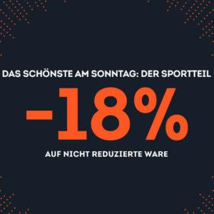SportScheck Gutschein 18% Rabatt