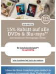 15% Nachlass auf DVDs und Blue Ray's bei Thalia.de