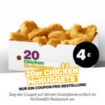20er Chicken McNuggets für 4€ - McDonald's Ostercountdown Tag 25