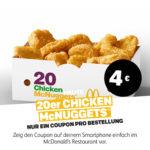 20er Chicken McNuggets für 4€ - McDonald's Ostercountdown Tag 25