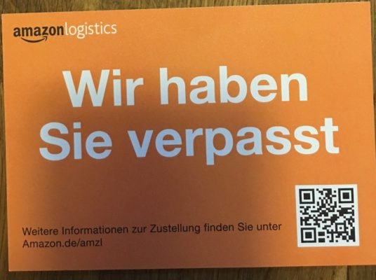 Amazon Logistics verpasst