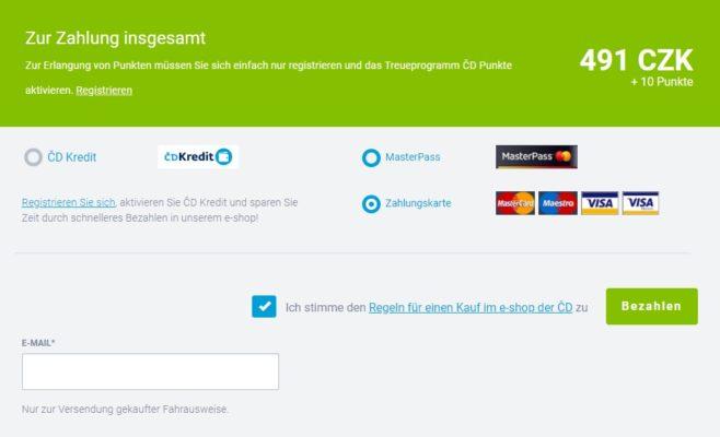 CD Zahlung MasterCard Visa