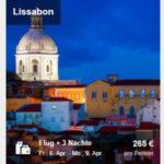 ebookers: 15% Rabatt auf Hotels und 60€ Euro Rabatt auf Flug+Hotel, z.B. Berlin, Prag, Lissabon, Dubai oder New York