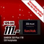 MediaMarkt: Speicher-Tiefpreisspätschicht, z. B. SanDisk G26 interne SSD mit 1TB für 111€ (statt 130€)