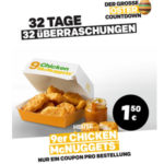 9er Chicken McNUGGETS für 1,50€ - McDonald's Ostercountdown - Tag 29
