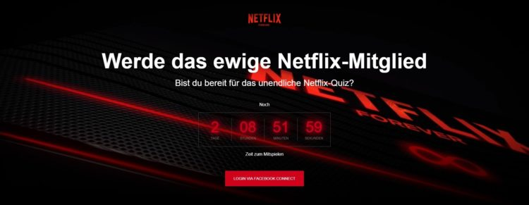Netflix Forever Webseite