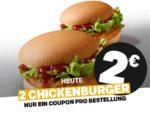 2x Chickenburger für 2€ - McDonald's Ostercountdown Tag 26