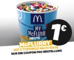 McFlurry mit 2 Toppings nach Wahl für 1€ - McDonald's Ostercountdown Tag 27
