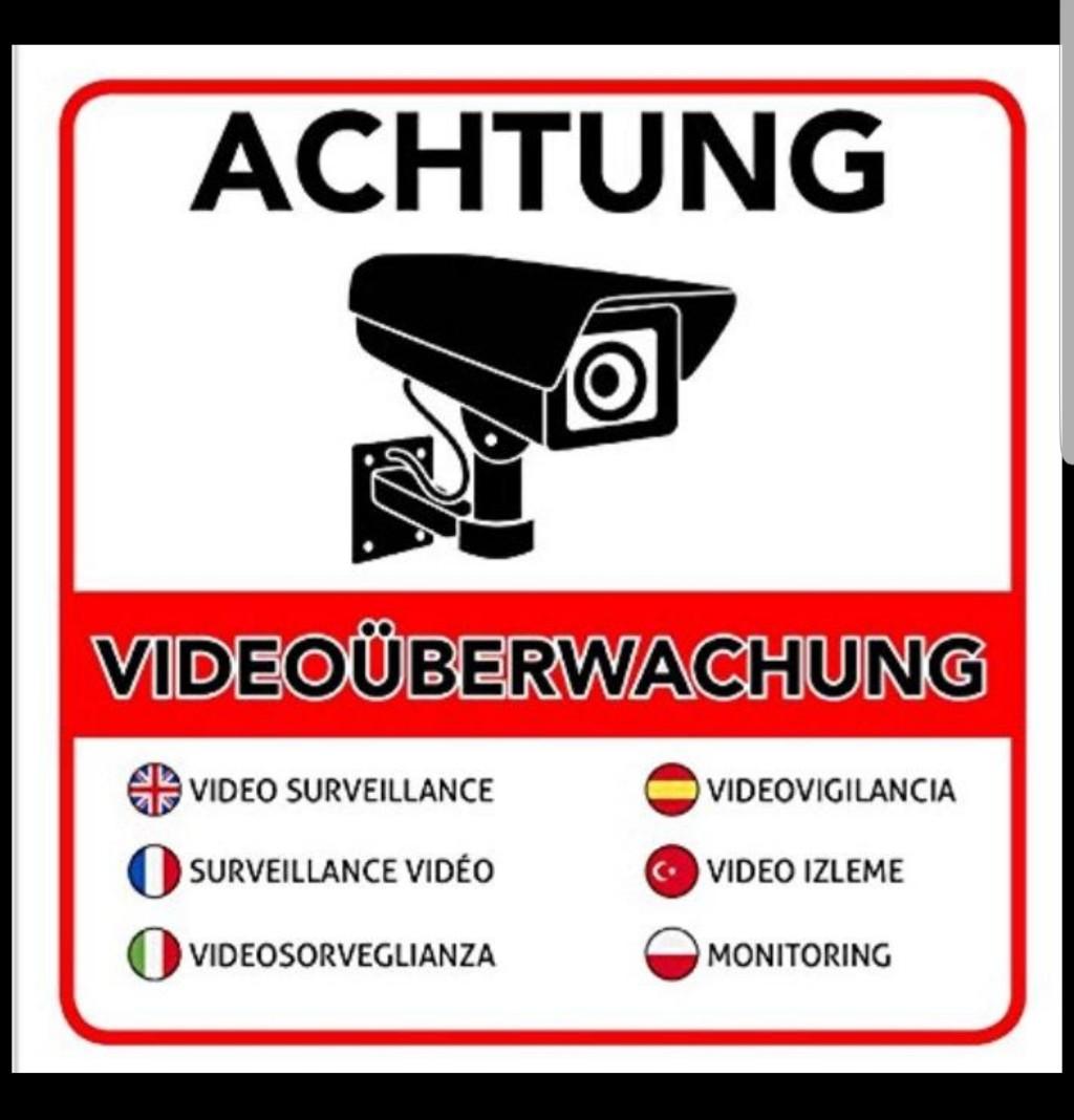 Videoüberwachung Premium Aufkleber 130 Statt 799