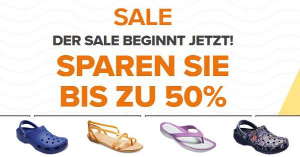 low priced 1bfc4 c908a Crocs: Angebote mit bis zu 50% Rabatt im Sale + 10% Extra ...