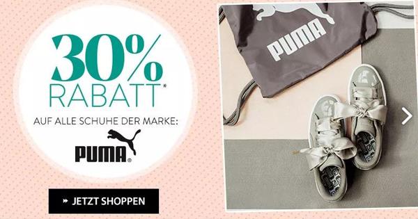 30% Rabatt auf Puma Schuhe bei Roland Schuhe