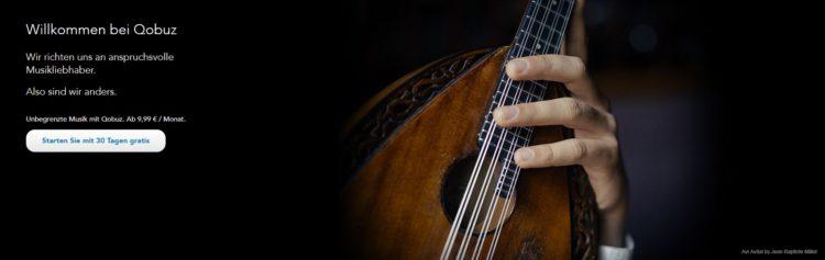 Qobuz - Musikstreaming 1 Monat kostenlos