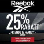 Reebok Friends & Family: 25% Gutschein auf ALLES (auch auf den Sale)