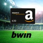 bwin is back: 10€ einsetzen + 20€ Amazon.de-Gutschein sichern (Neukunden)