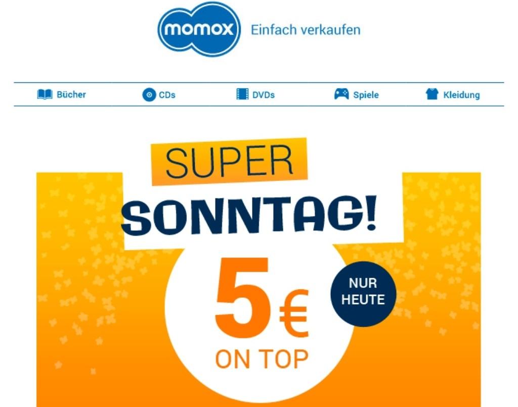 b048f89486fa6 5 Euro extra bei momox mit dem Code SUPER18 ab 30€ - nur heute
