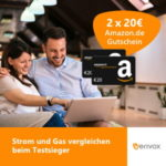 *Wieder da* 2x 35€ Amazon.de Gutschein für Strom und Gas bei Verivox