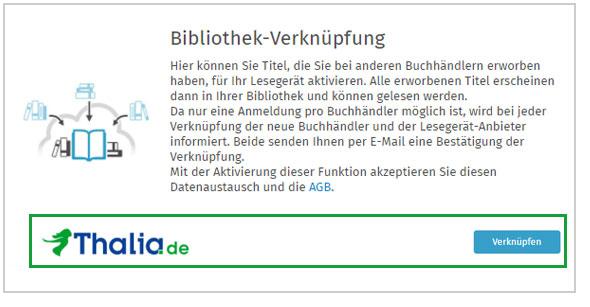 Bibliotheksverknuepfung Buch.de Tahlia.de