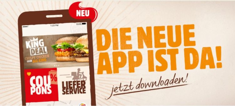 Aktuelle mobile coupons burger king