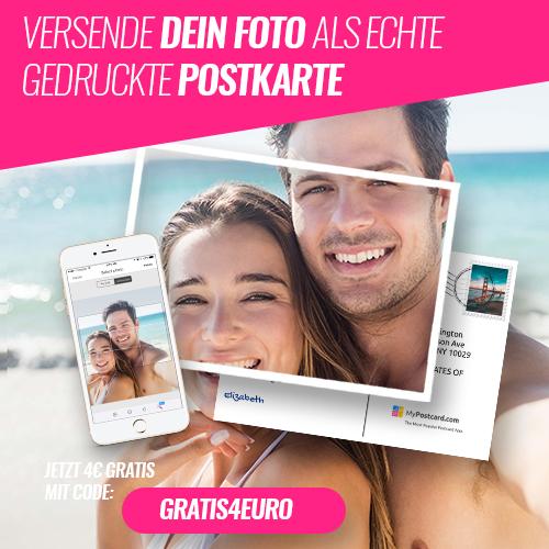4 mypostcard gutschein 2x gratis foto postkarten per app. Black Bedroom Furniture Sets. Home Design Ideas
