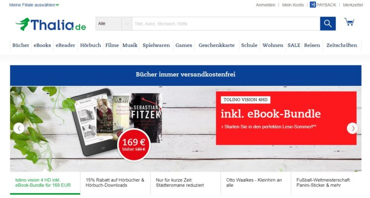 Thalia Online-Shop