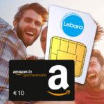 *nur noch heute* Lebara Prepaid-Karte für 4,99€ + 10€ BestChoice-/Amazon.de-Gutschein