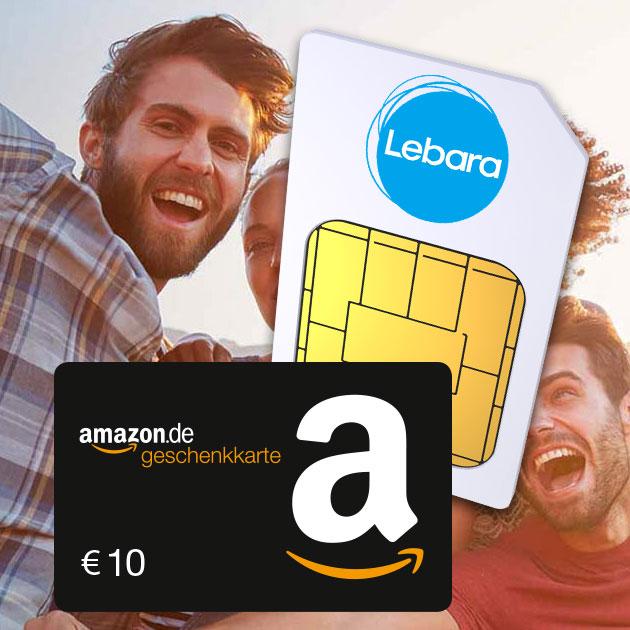 Lebara Prepaid-Karte für 4,99€ + 10€ BestChoice-/Amazon de