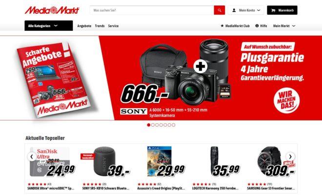 mediamarkt.de Homepage