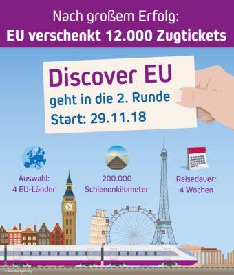 Discover EU 2. Runde