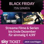 Sky Ticket: 2 Monate Filme & Serien für 4,99€ (statt 20€) mit Sky Entertainment & Cinema-Ticket