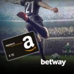 *Wieder da: nur 250x* betway: 10€ einzahlen + 15€ Amazon.de-Gutschein bekommen!