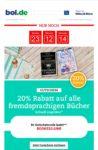 20% Rabatt auf alle fremdsprachigen Bücher bei bol.de - Aktion nur noch heute gültig