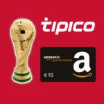 *nur 150x*  Tipico: 10€ Amazon.de-Gutschein bei 10€ Einsatz + 100% Wettbonus!