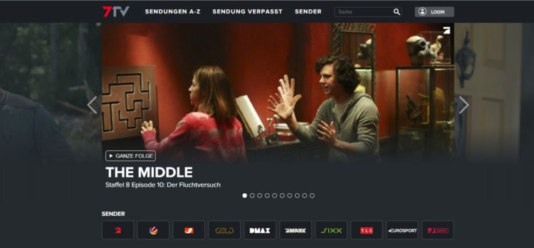 7TV Webseite