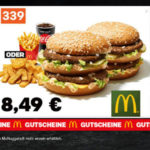 McDonalds-Coupons, z.B. 22 Chicken McNuggets für 4,99€