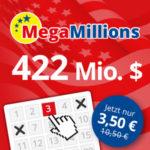 Lottohelden: 3 Felder MegaMillions für 3,50€ (statt 10,50€) - nur für Neukunden