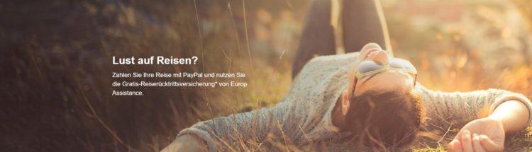 Reiserücktrittsversicherung PayPal