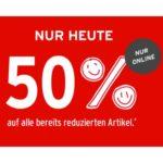 Ernsting's Family: 50% Rabatt auf alle bereits reduzierten Artikel