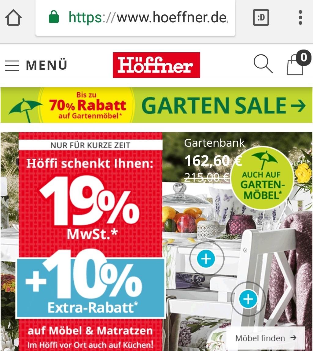Fast 25 Rabatt Bei Möbel Höffner Schnäppchen Blog Mit Doktortitel