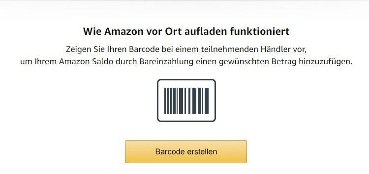 Amazon vor ort aufladen Funktion