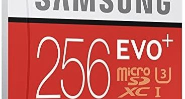 Samsung_Speicherkarte_Micro_SDXC_256GB_EVO_Plus_UHS-I_Grade_3_Klasse_10_fuer_Smartphones_und_Tablets_mit_SD_Adapter_rotweiss