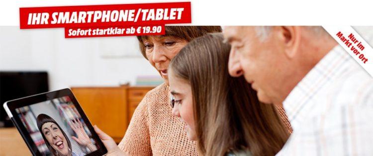 Smartphone-Tablet Startklar