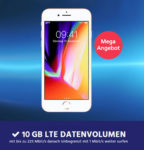 Bestpreis: o2 Free M mit 10GB LTE ab 10,65€/Monat (dank 110€ Amazon.de-Gutschein + iPhone 8-Verkauf)