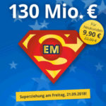 EuroMillions Superdraw mit 130 Mio. € Jackpot - 1.175 Chancen für 9,90€ (statt 22€) / 3 Felder für 2,75€ (statt 8,25€) -  nur Neukunden