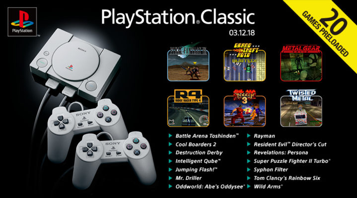 PlayStation Classic 20 Spiele