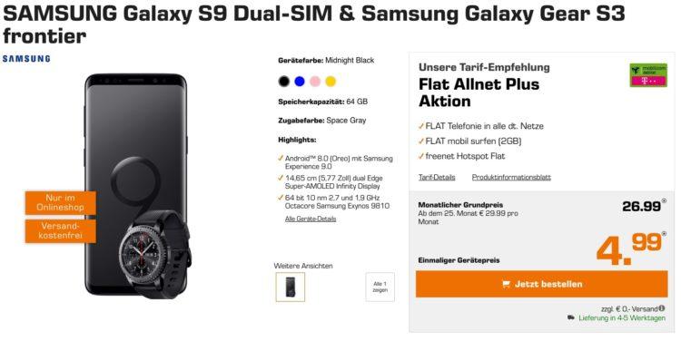Samsung galaxy s9 & samsung galaxy gear s3 saturn
