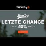 Superdry: Bis zu 50% Rabatt im Sale + kostenloser Versand